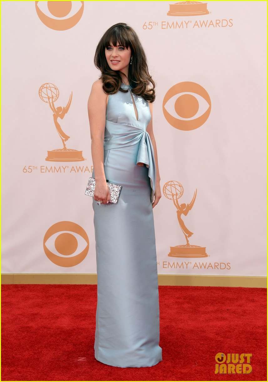 zooey deschanel emmys 2013 red carpet 052957972