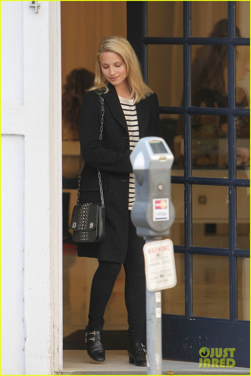 dianna agron steps out before glee cory monteith tribute episode 02