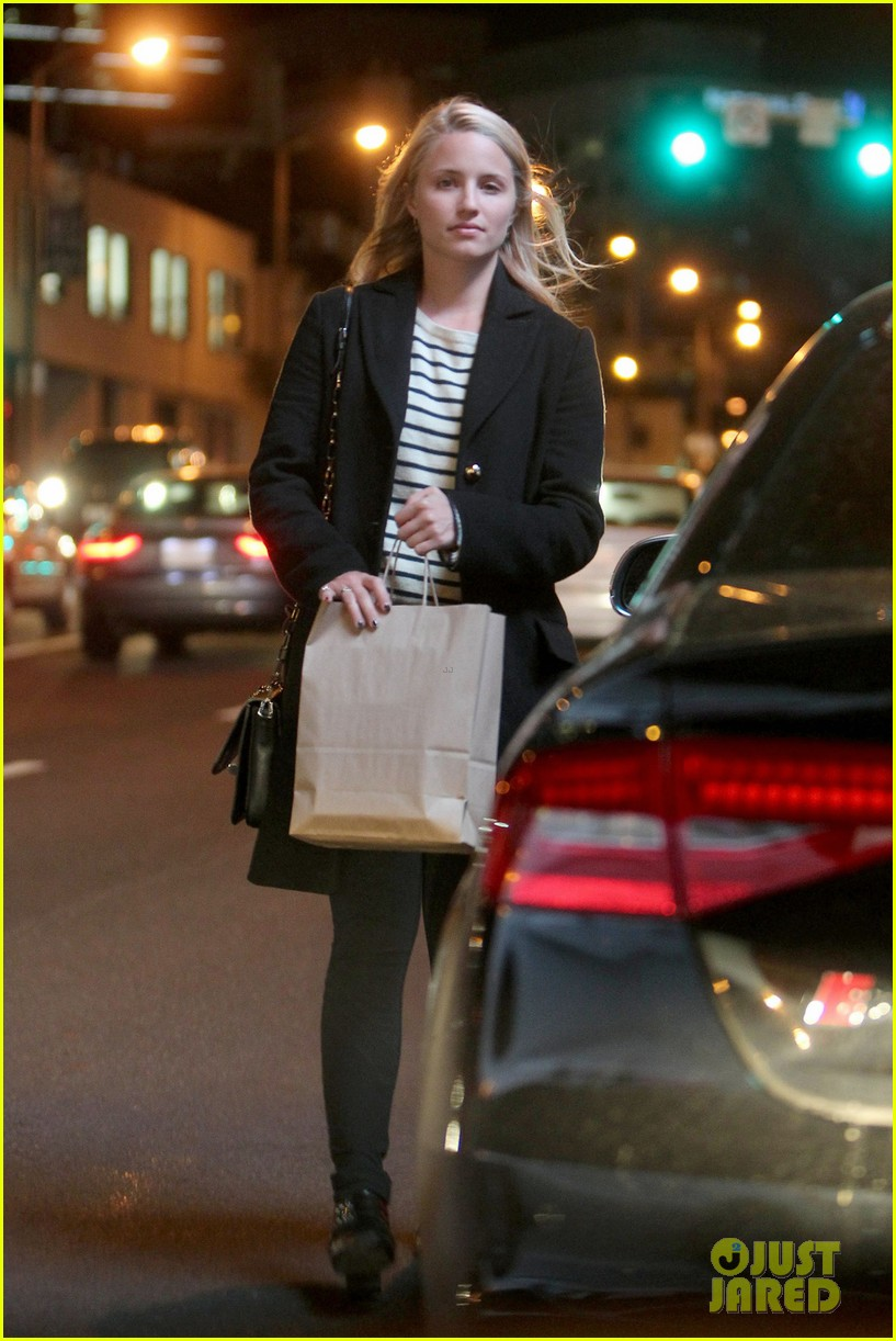dianna agron steps out before glee cory monteith tribute episode 052969629