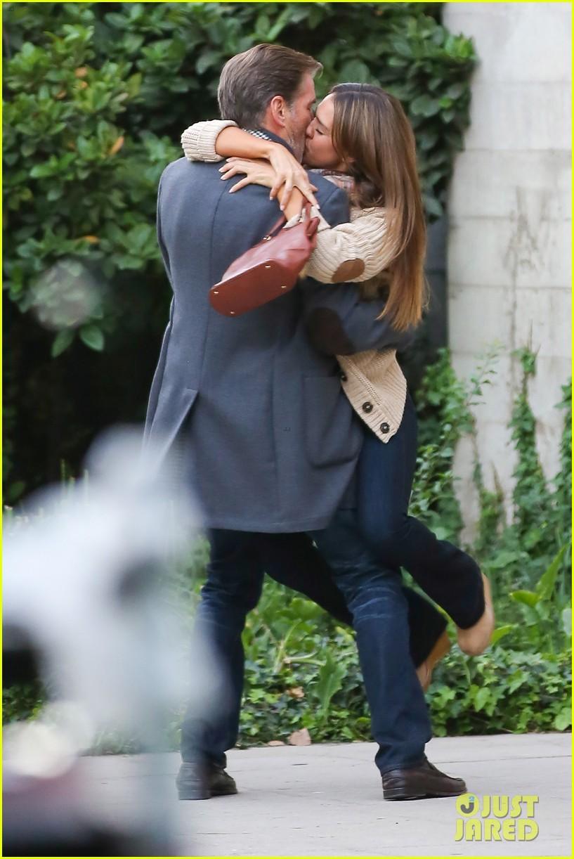 jessica alba passionately kisses pierce brosnan for movie 272983309