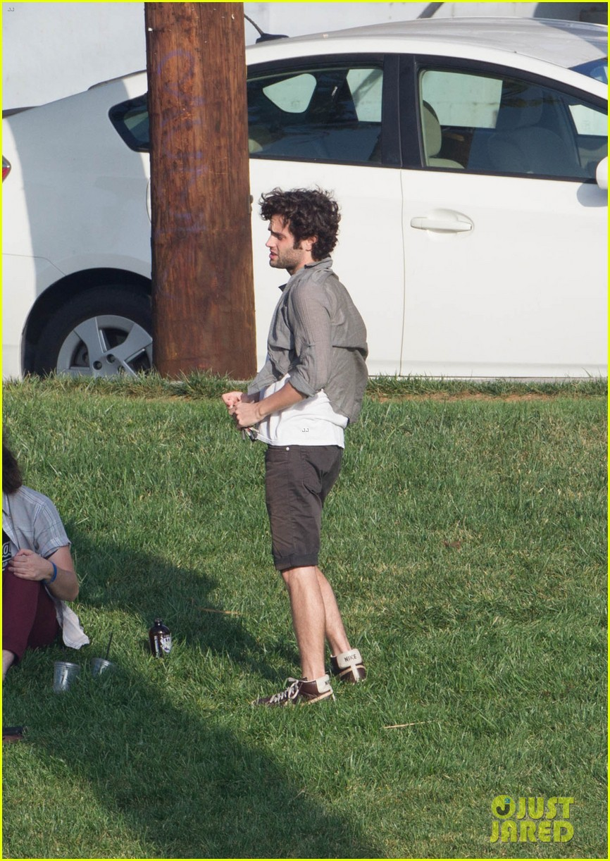 penn badgley goes shirtless in the park 052981730