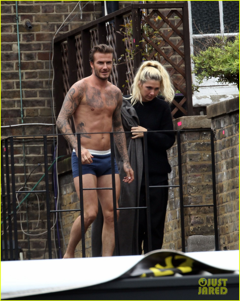 david beckham shows underwear shirtless body flies through air for hm 102964519