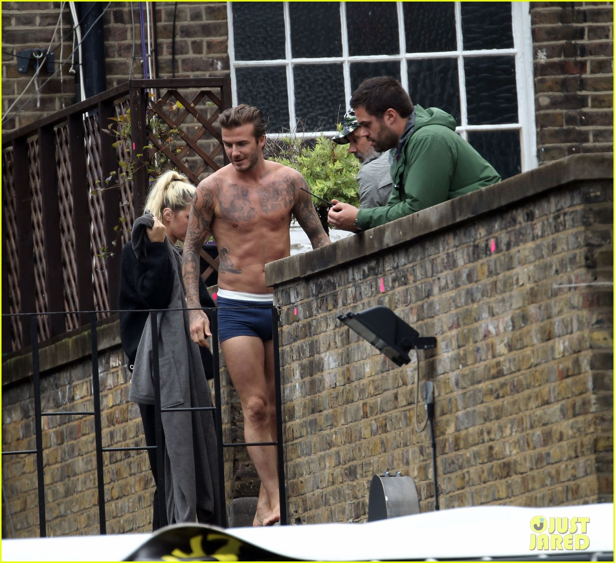 david beckham shows underwear shirtless body flies through air for hm 132964522