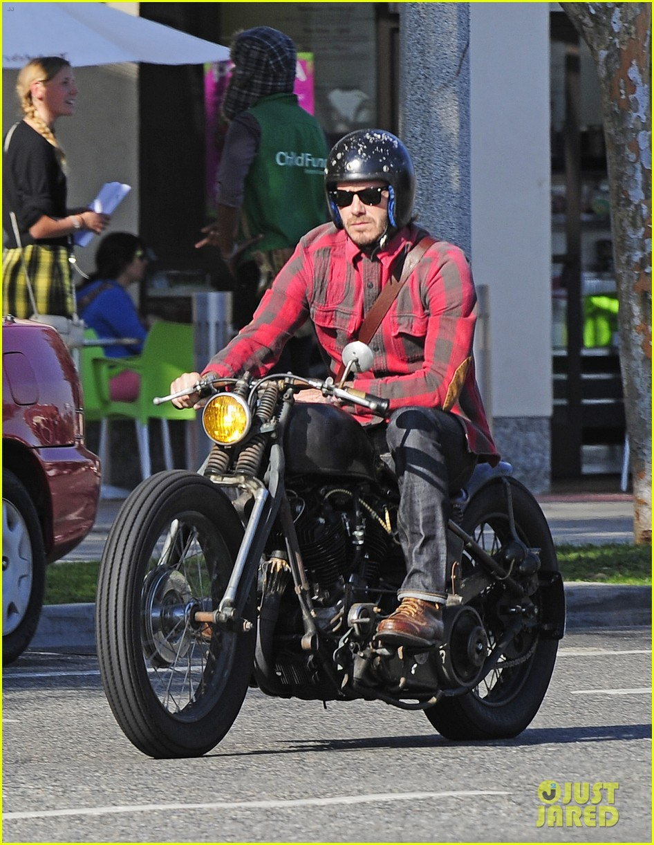 david beckham motorcycle man in weho 012978256