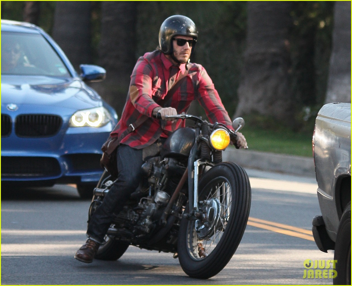 david beckham motorcycle man in weho 022978257