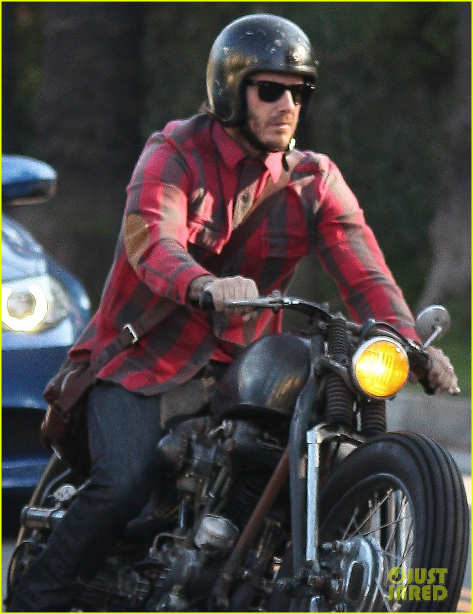 david beckham motorcycle man in weho 042978259