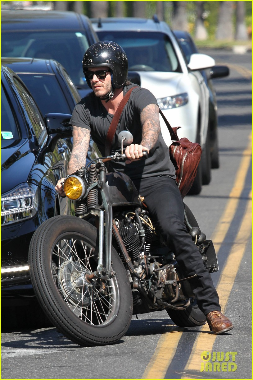 david beckham rides motorcycle in los angeles all week 052975305
