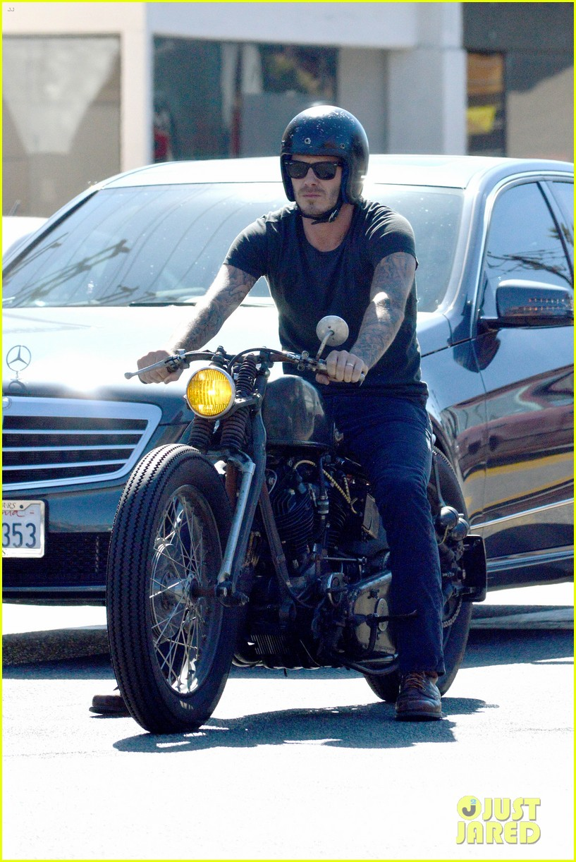 david beckham rides motorcycle in los angeles all week 072975307