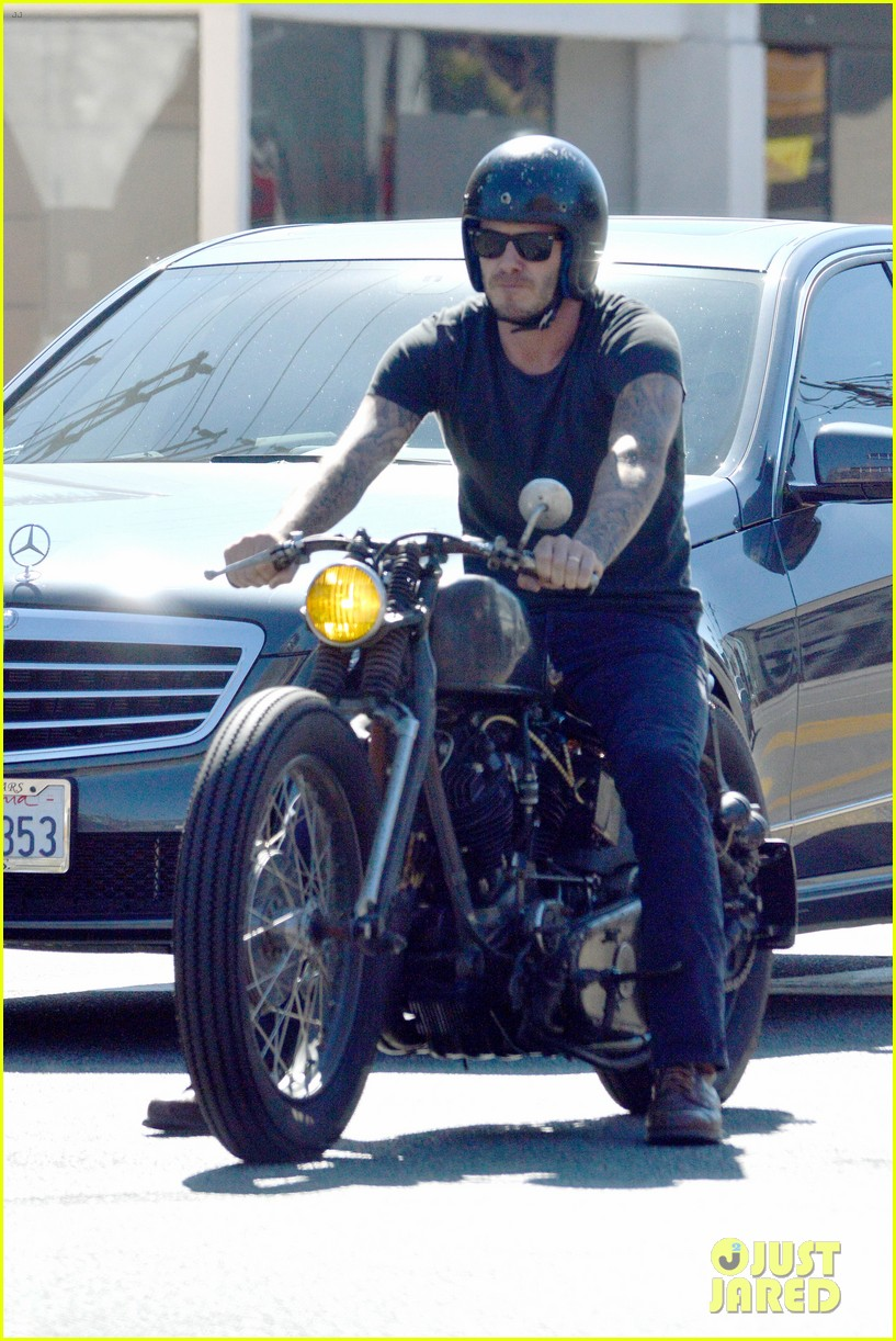 david beckham rides motorcycle in los angeles all week 092975309