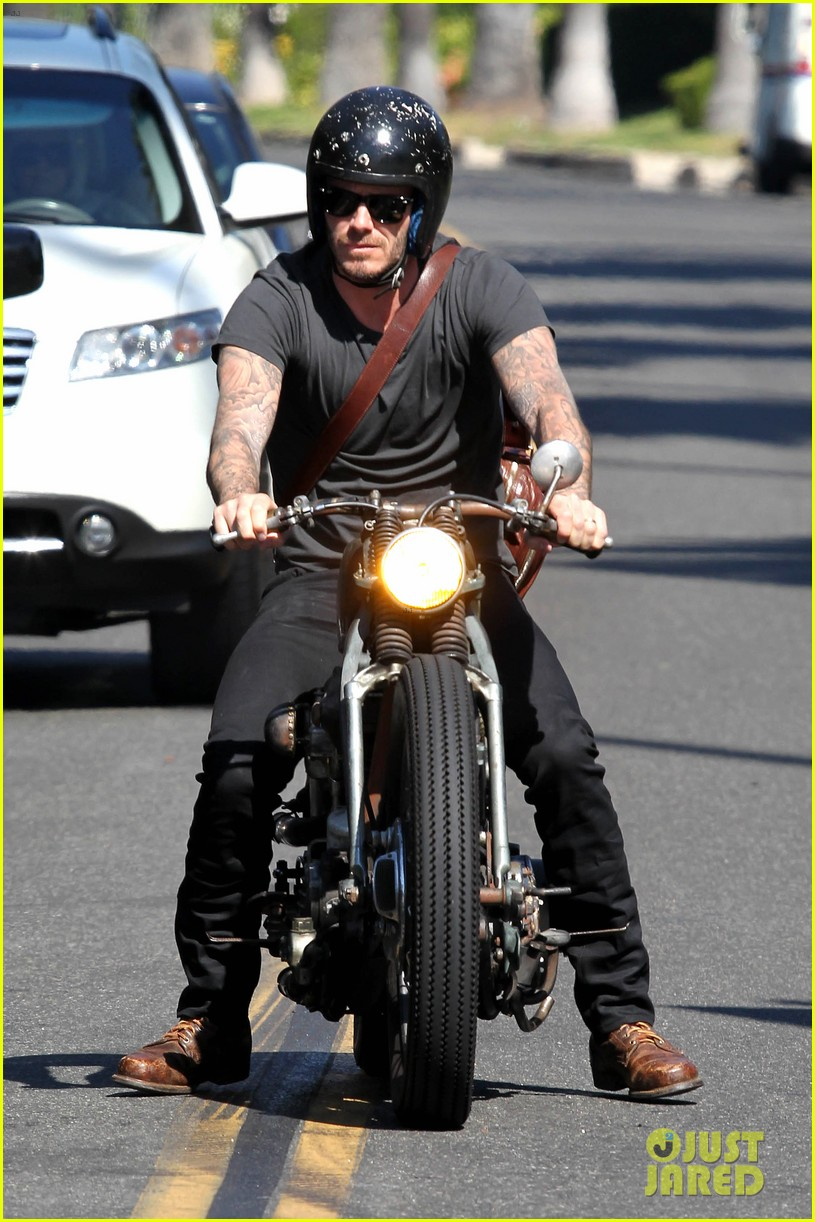 david beckham rides motorcycle in los angeles all week 132975313