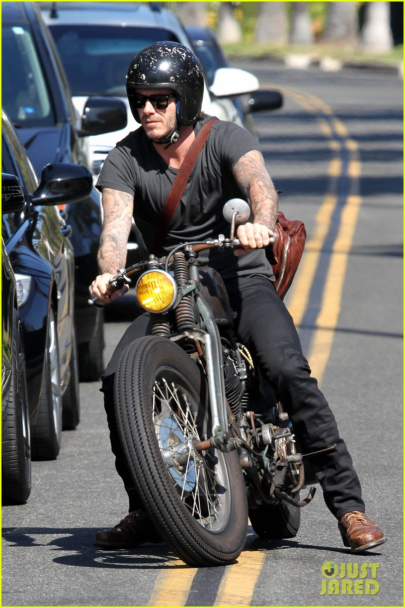david beckham rides motorcycle in los angeles all week 142975314