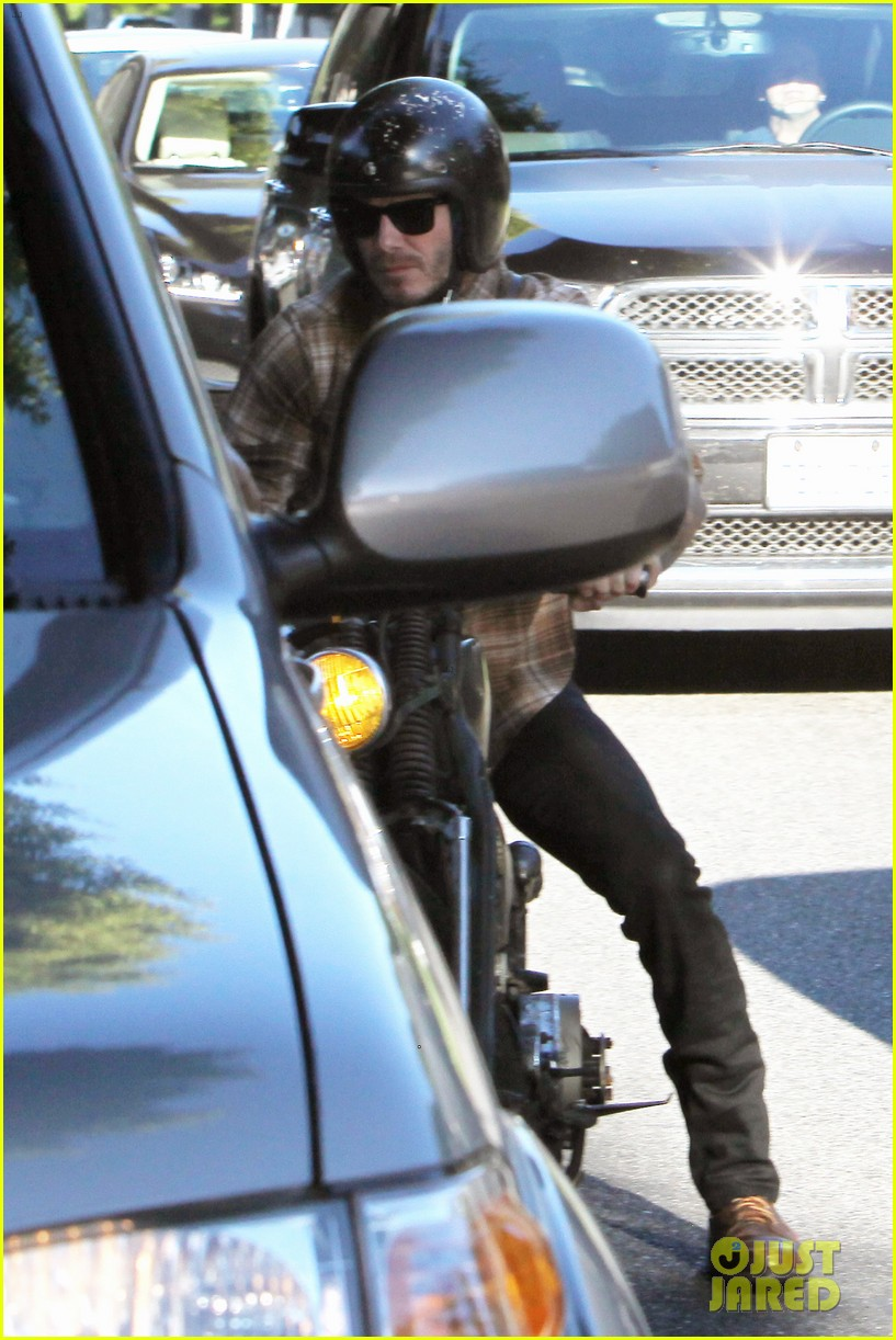 david beckham rides motorcycle in los angeles all week 212975321