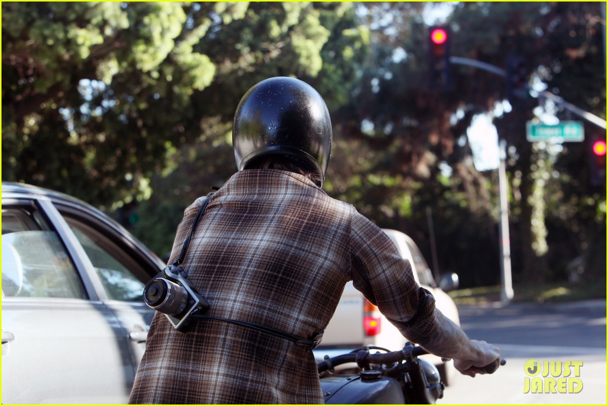 david beckham rides motorcycle in los angeles all week 252975325