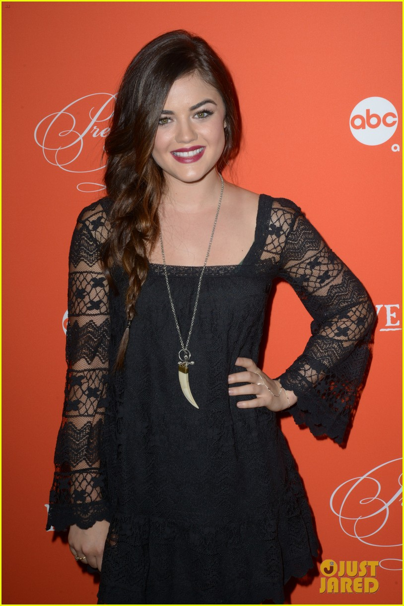 ashley benson lucy hale pretty little liars halloween screening 17