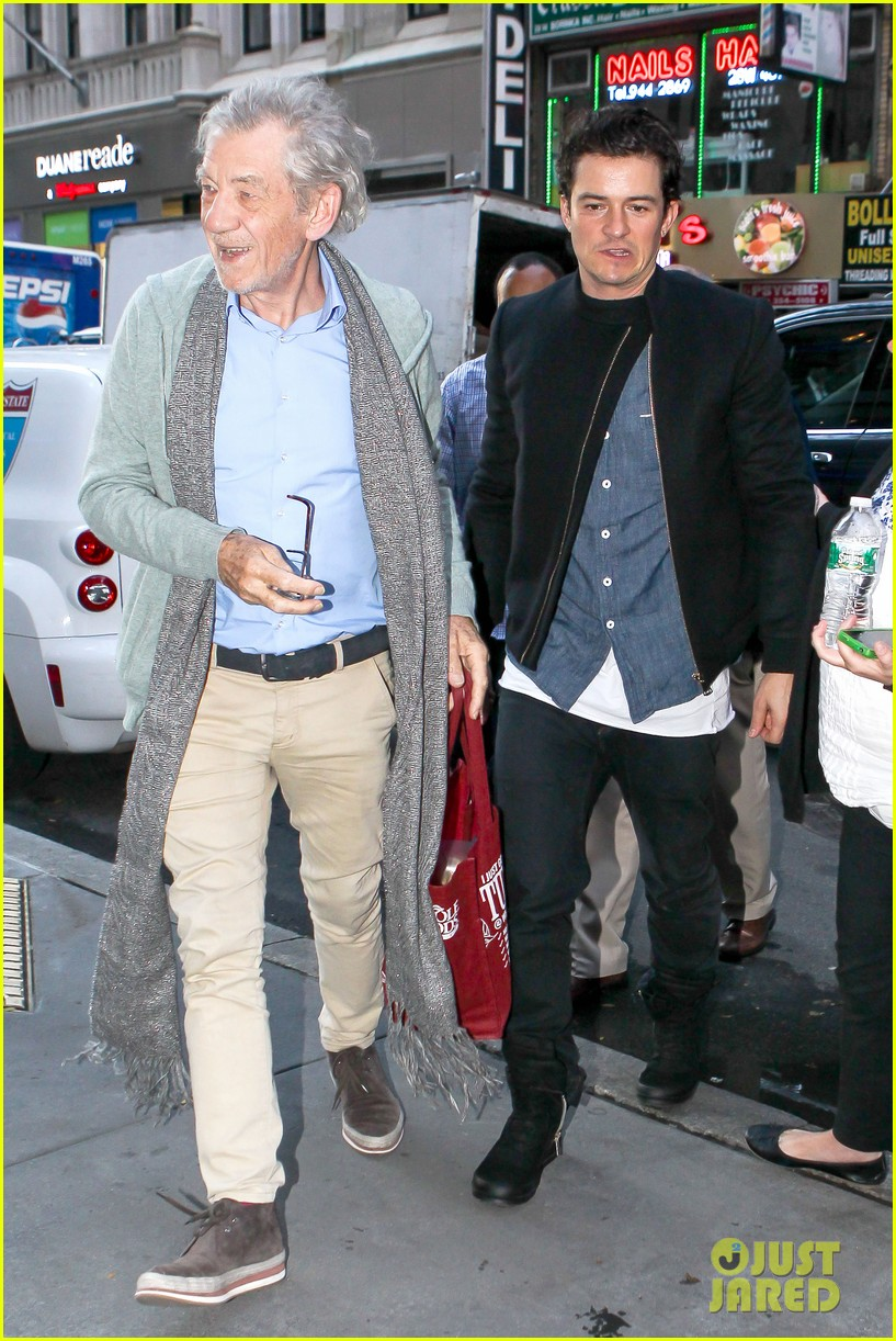 orlando bloom ian mckellan promote hobbit on today 042963877