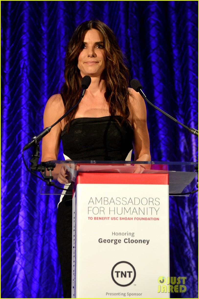 sandra bullock george clooney ambassadors for humanity 102965631