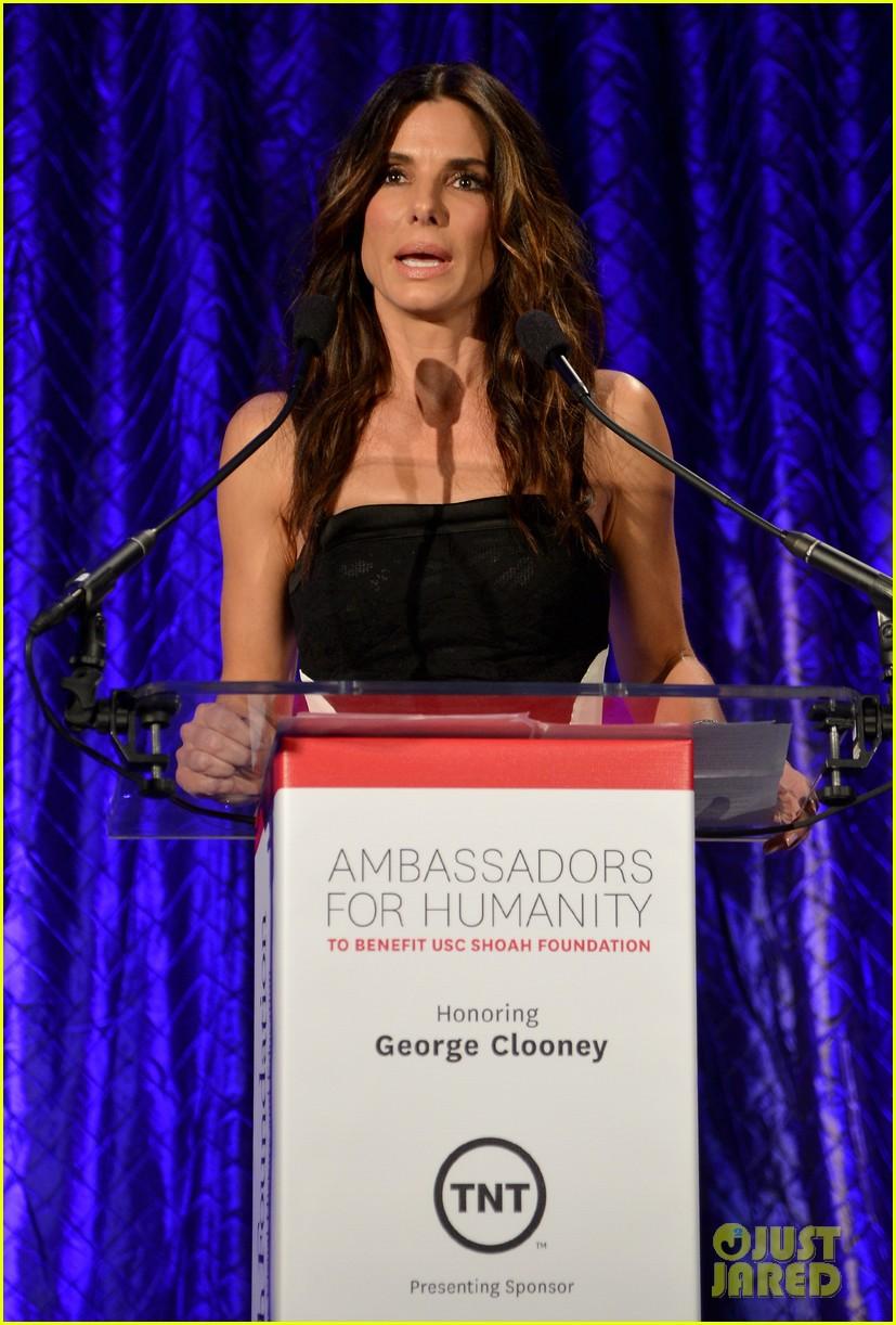 sandra bullock george clooney ambassadors for humanity 17