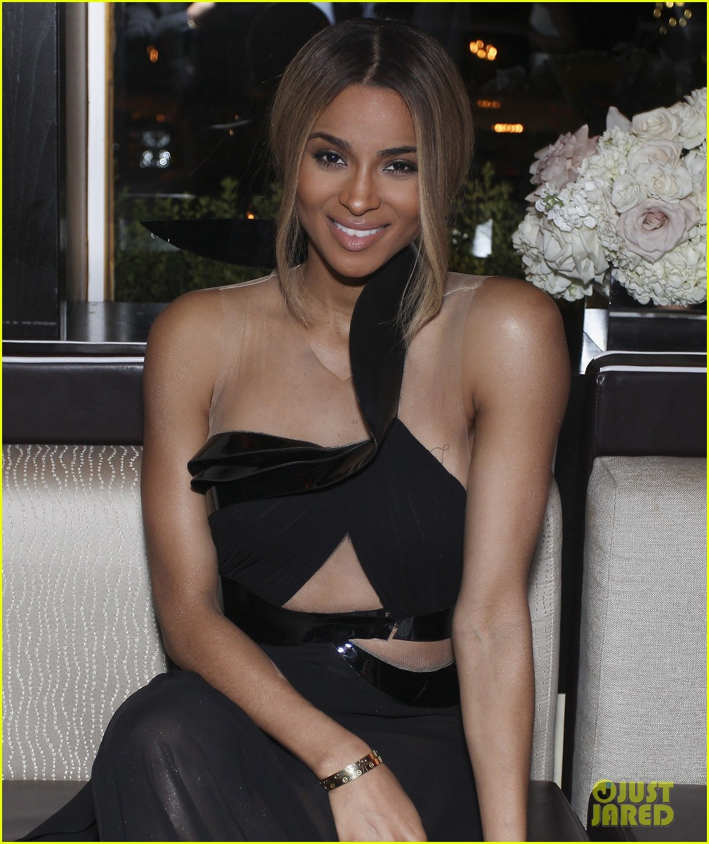 ciara shows off engagement ring at moet rose lounge 082982200