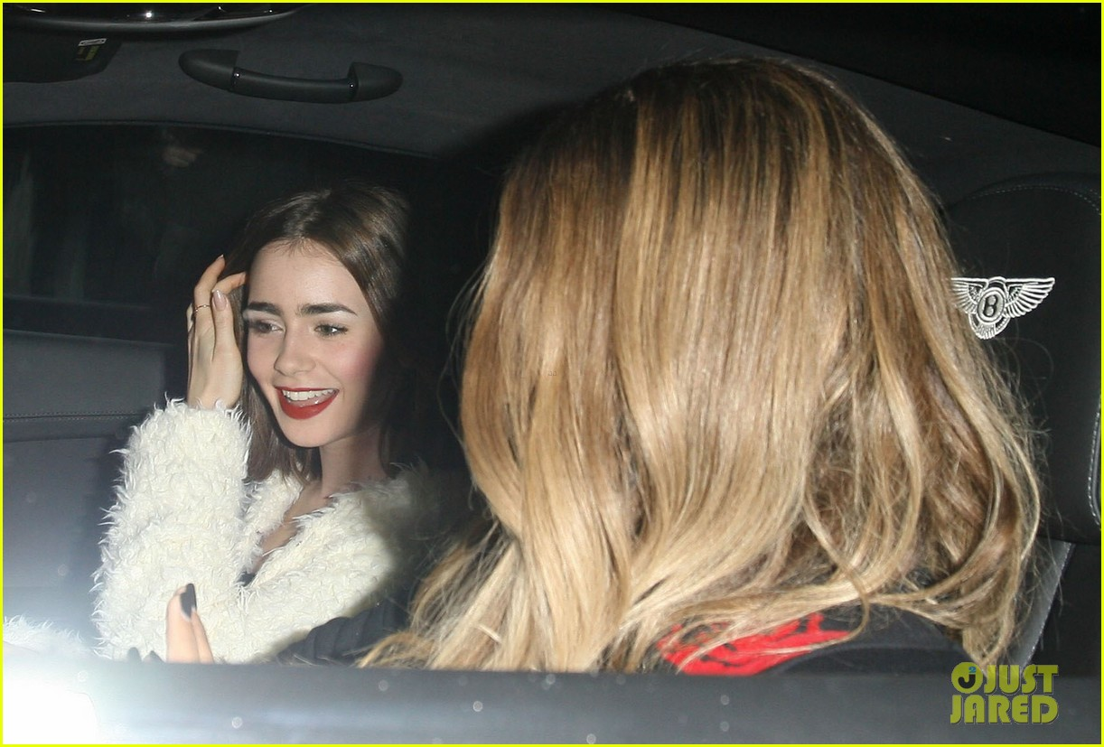 lily collins dines out at hakkasan with gal pal ciara 112970148