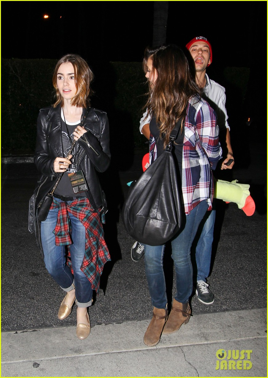 lily collins nina dobrev julianne hough girls night out 172967261