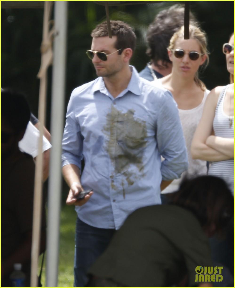 Bradley Cooper Wears Dirty Shirt Sports Shorter Haircut Photo