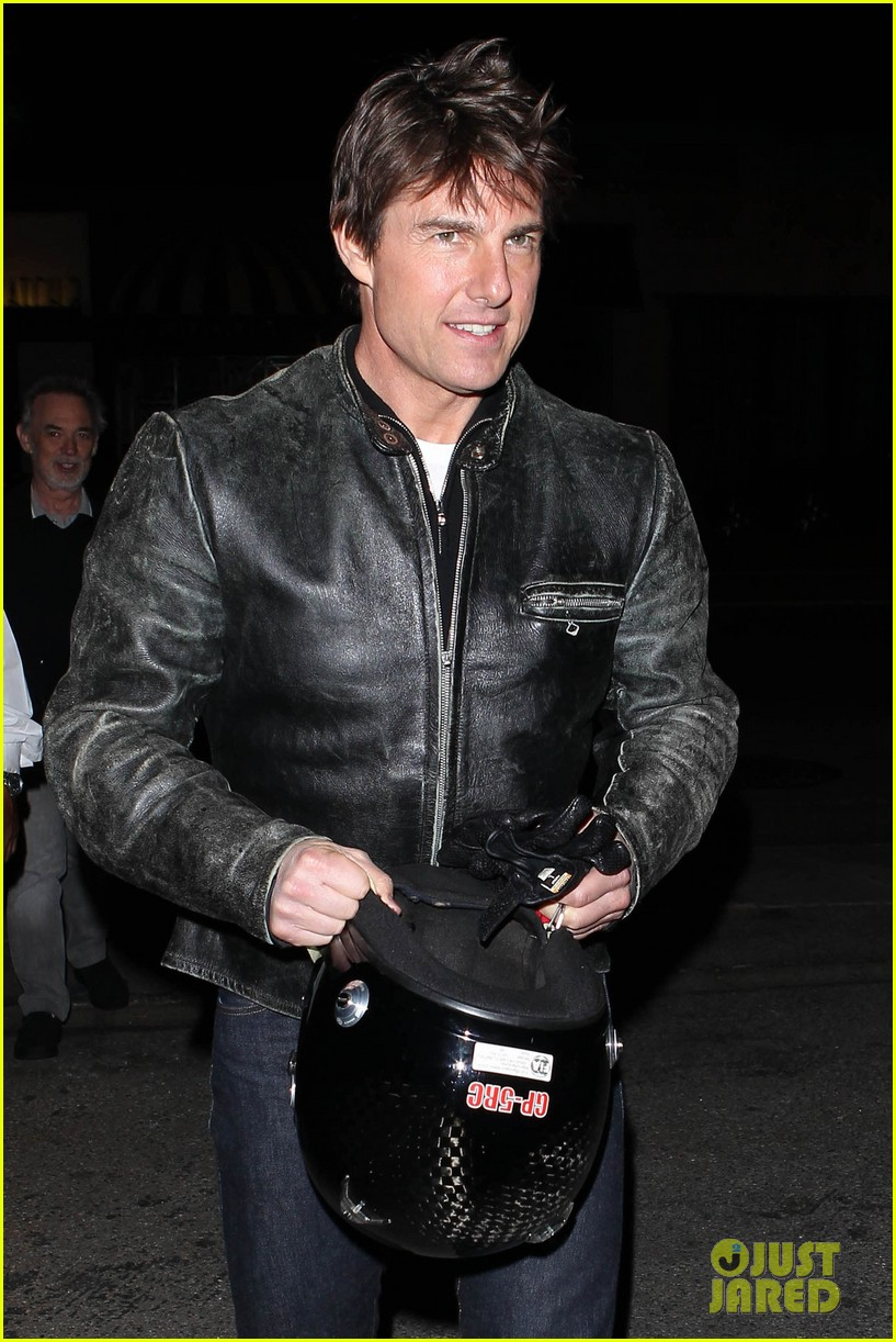 tom cruise rides motorcycle for lucas on sunset dinner outing 022973531