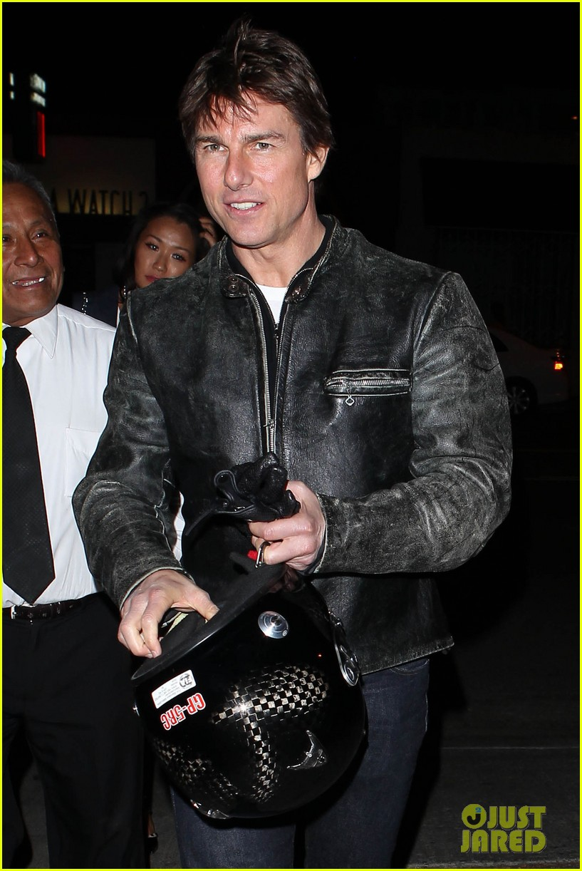 tom cruise rides motorcycle for lucas on sunset dinner outing 192973548