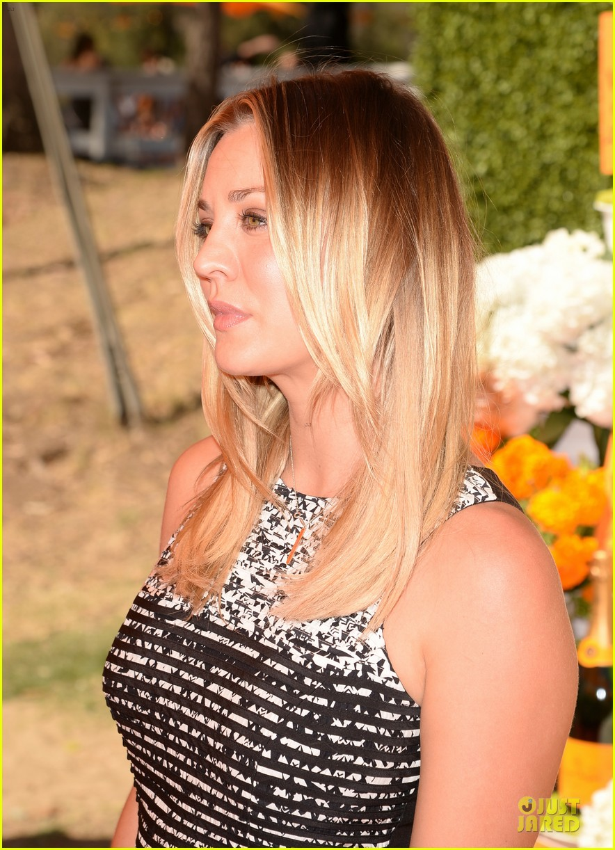 kaley cuoco ryan sweeting veuve clicquot polo classic kiss 082966901