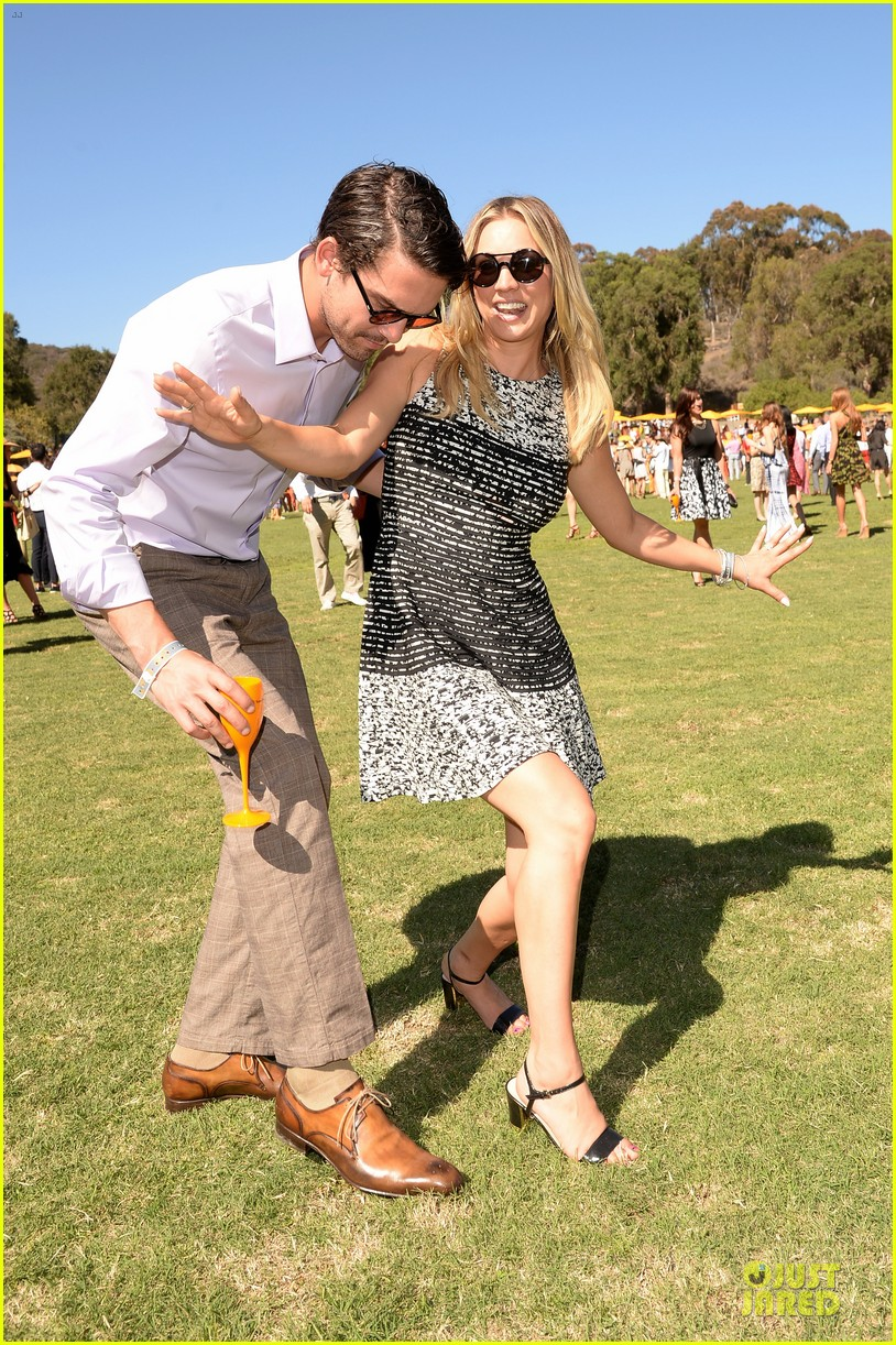 kaley cuoco ryan sweeting veuve clicquot polo classic kiss 232966916