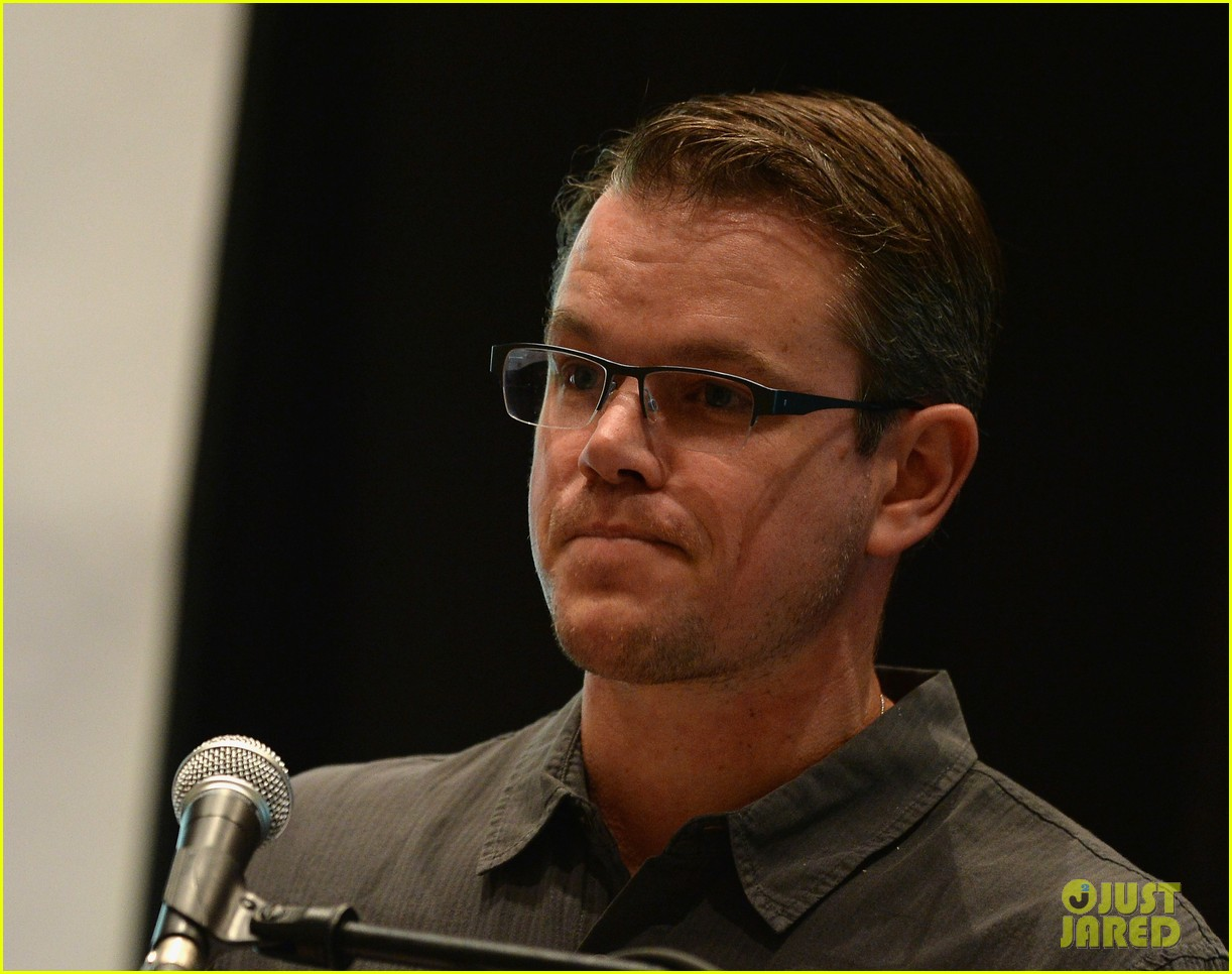 matt damon education on the edge lecture series 062965045