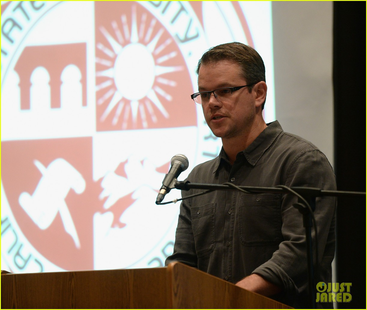 matt damon education on the edge lecture series 10