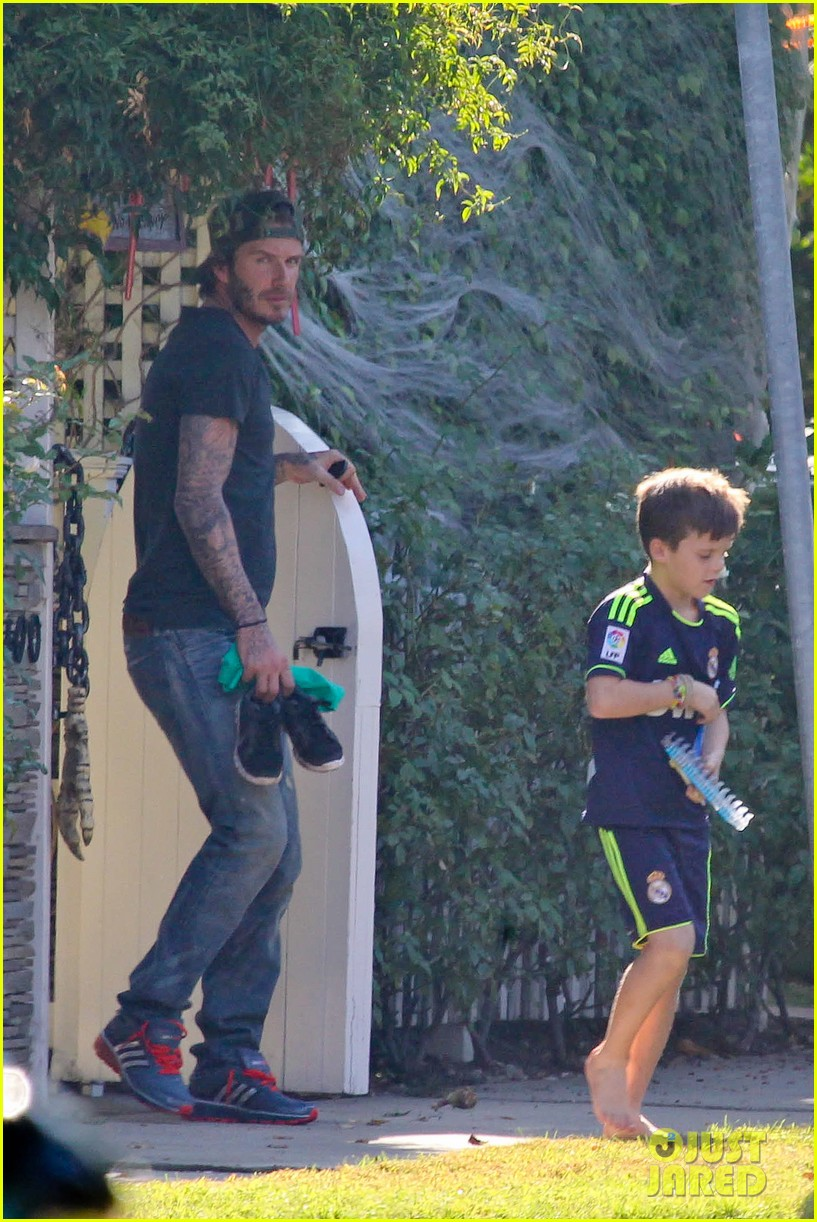 david beckham sunday soccer practice cruz 022975762