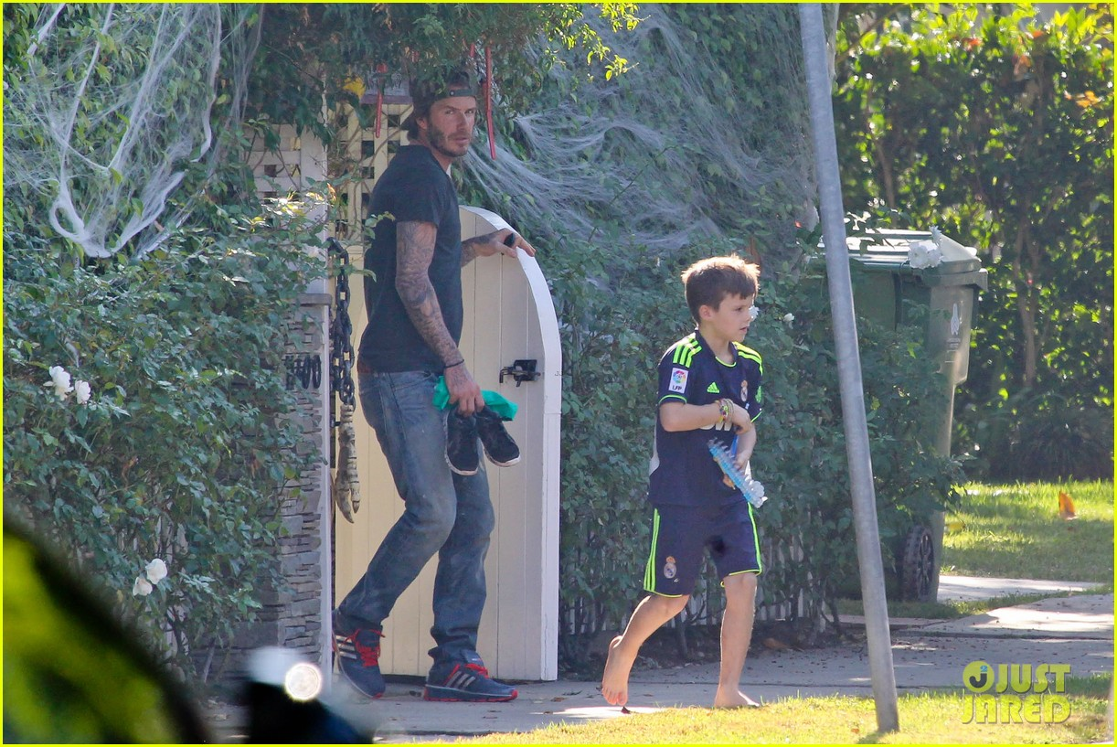 david beckham sunday soccer practice cruz 062975766