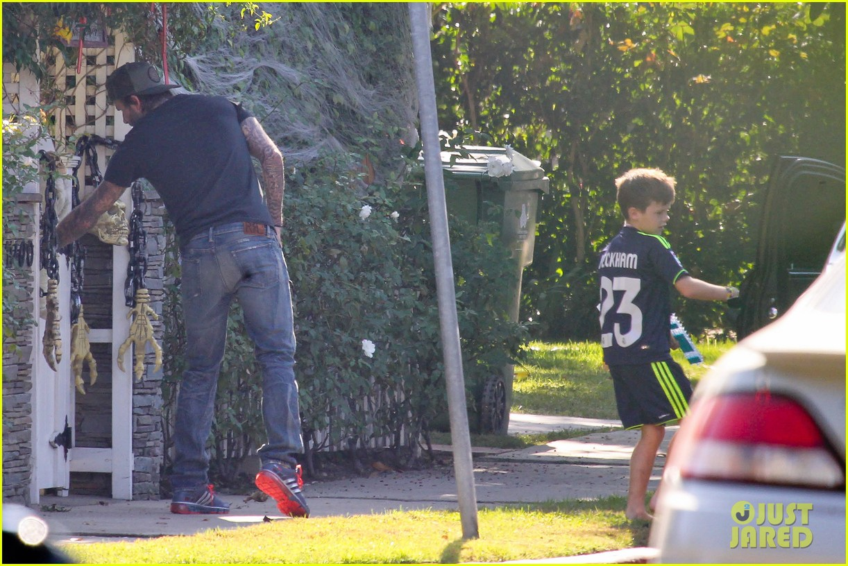 david beckham sunday soccer practice cruz 132975773