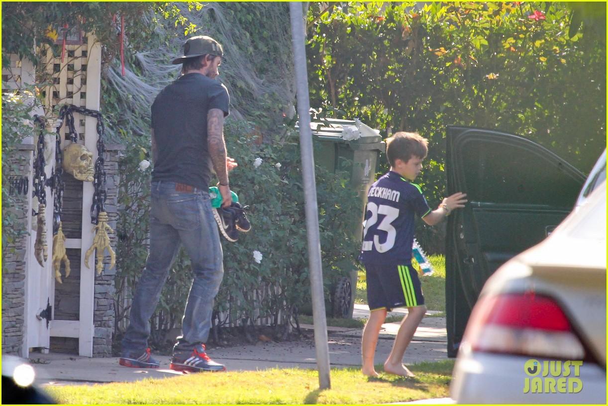david beckham sunday soccer practice cruz 142975774
