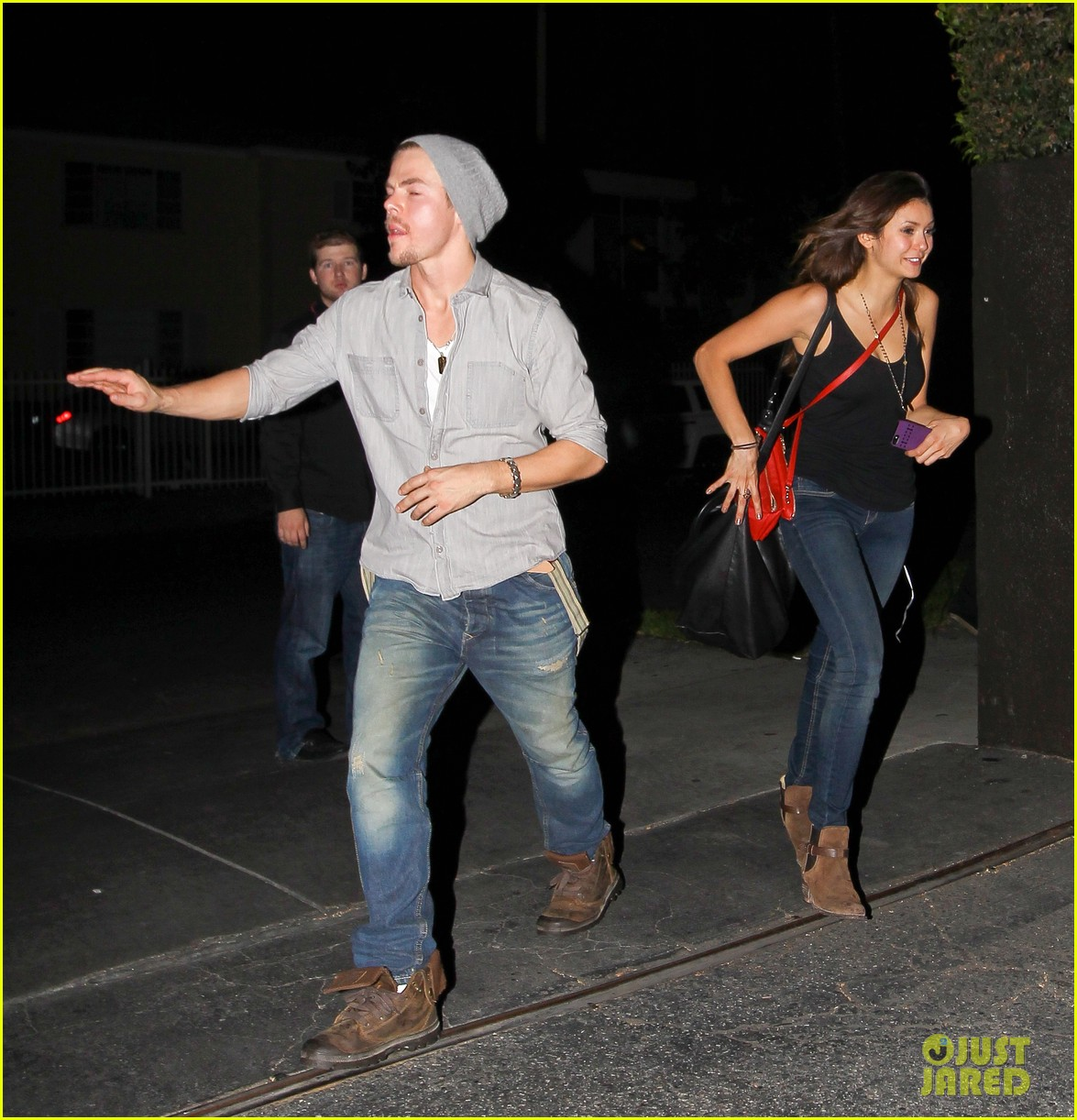 nina dobrev derek hough step out together photos 032968389