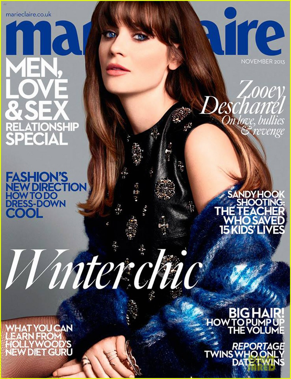zooey deschanel covers marie claire uk november 2013 05