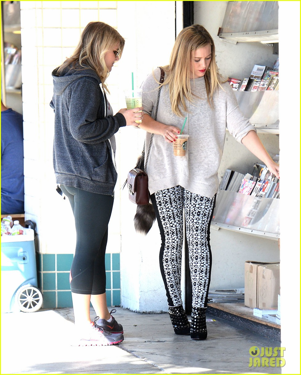hilary duff grabs coffee with gal pal in beverly hills 022968410