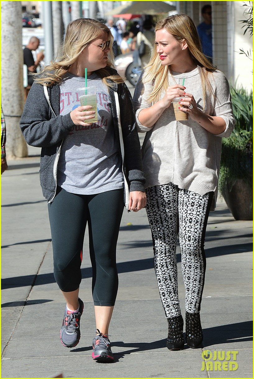 hilary duff grabs coffee with gal pal in beverly hills 03