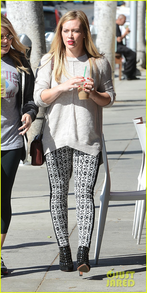 hilary duff grabs coffee with gal pal in beverly hills 042968412