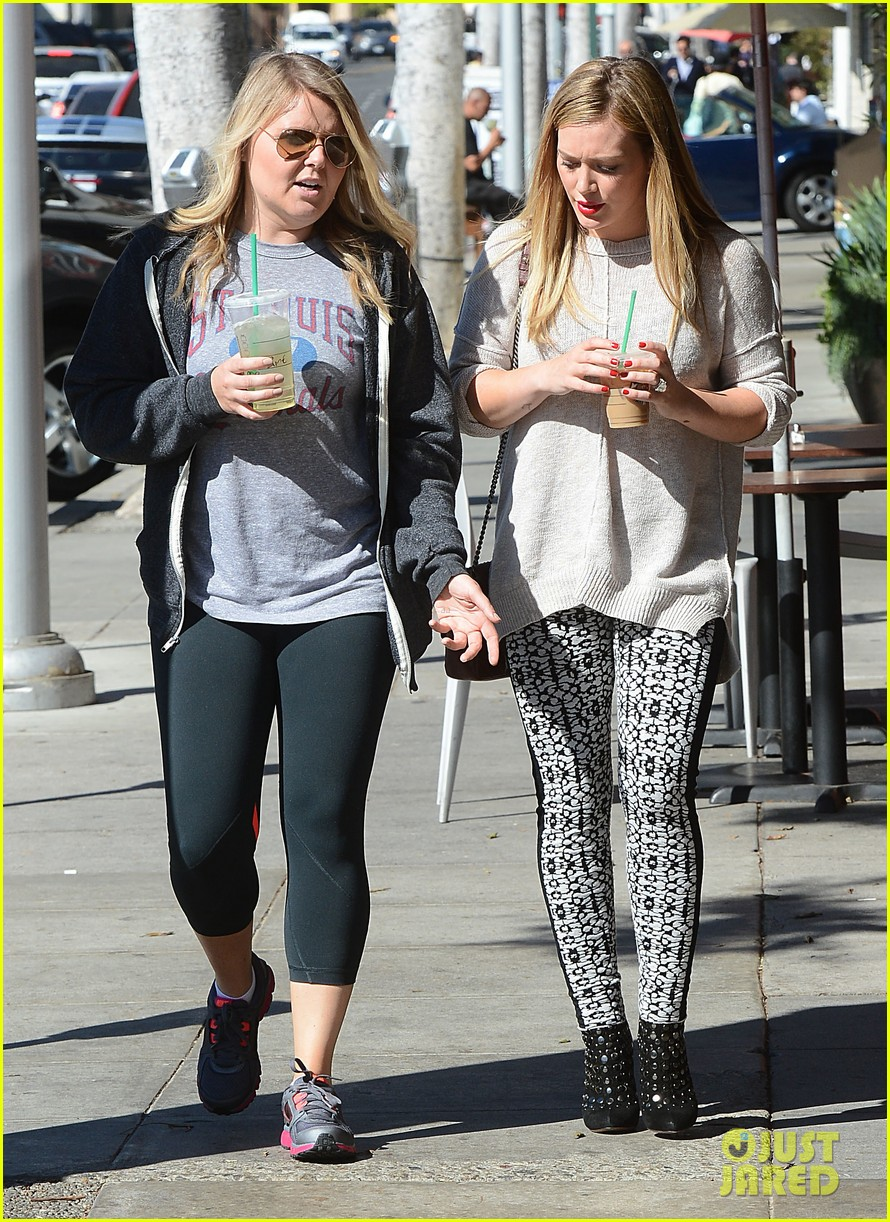 hilary duff grabs coffee with gal pal in beverly hills 052968413