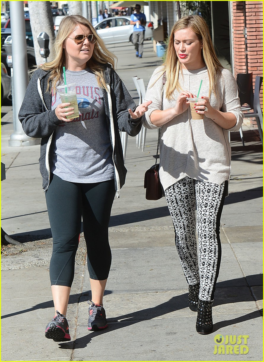 hilary duff grabs coffee with gal pal in beverly hills 062968414