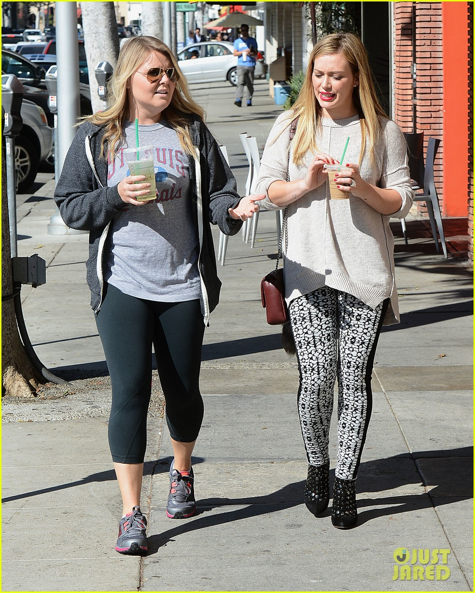 hilary duff grabs coffee with gal pal in beverly hills 07