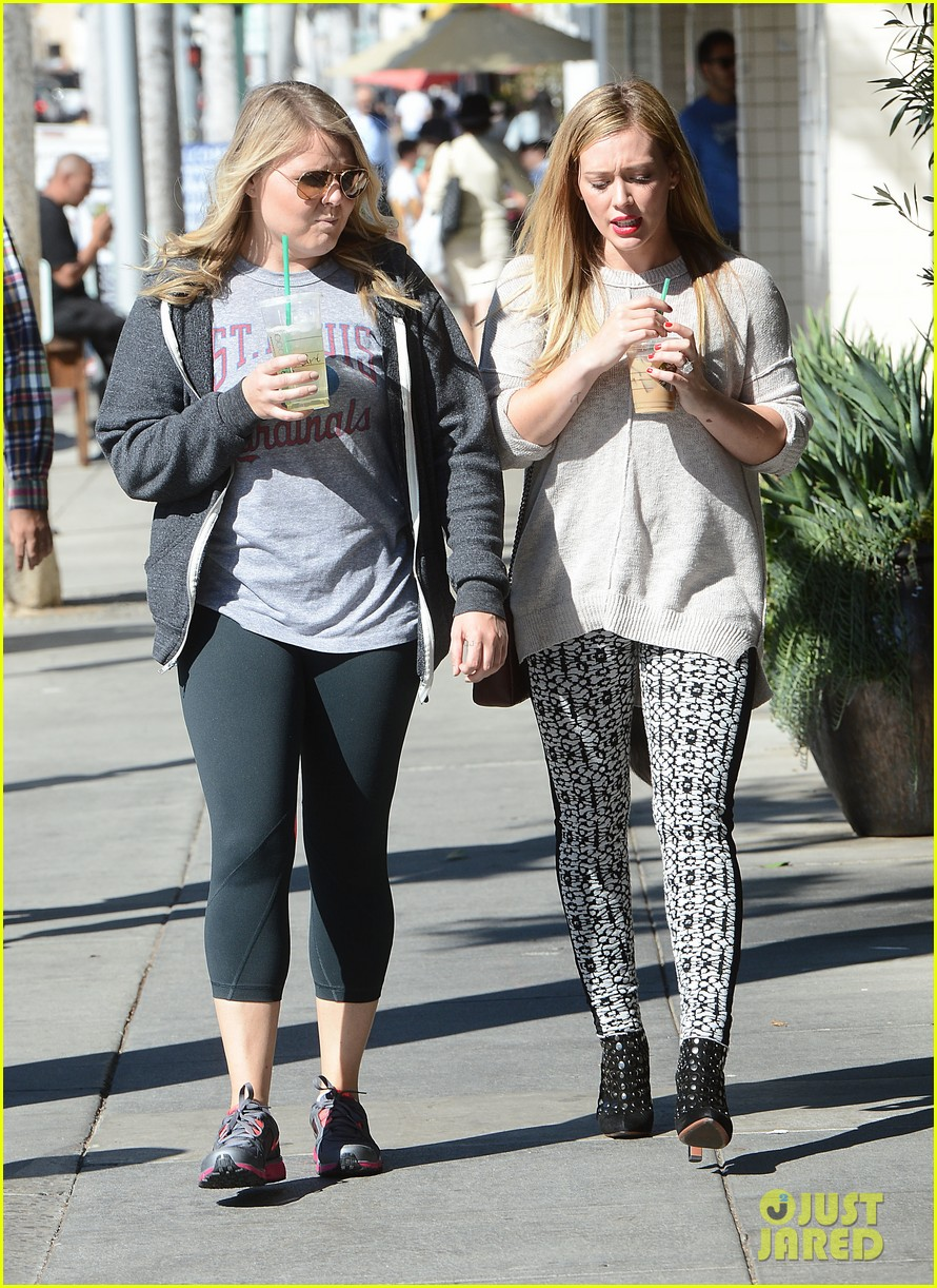 hilary duff grabs coffee with gal pal in beverly hills 092968417
