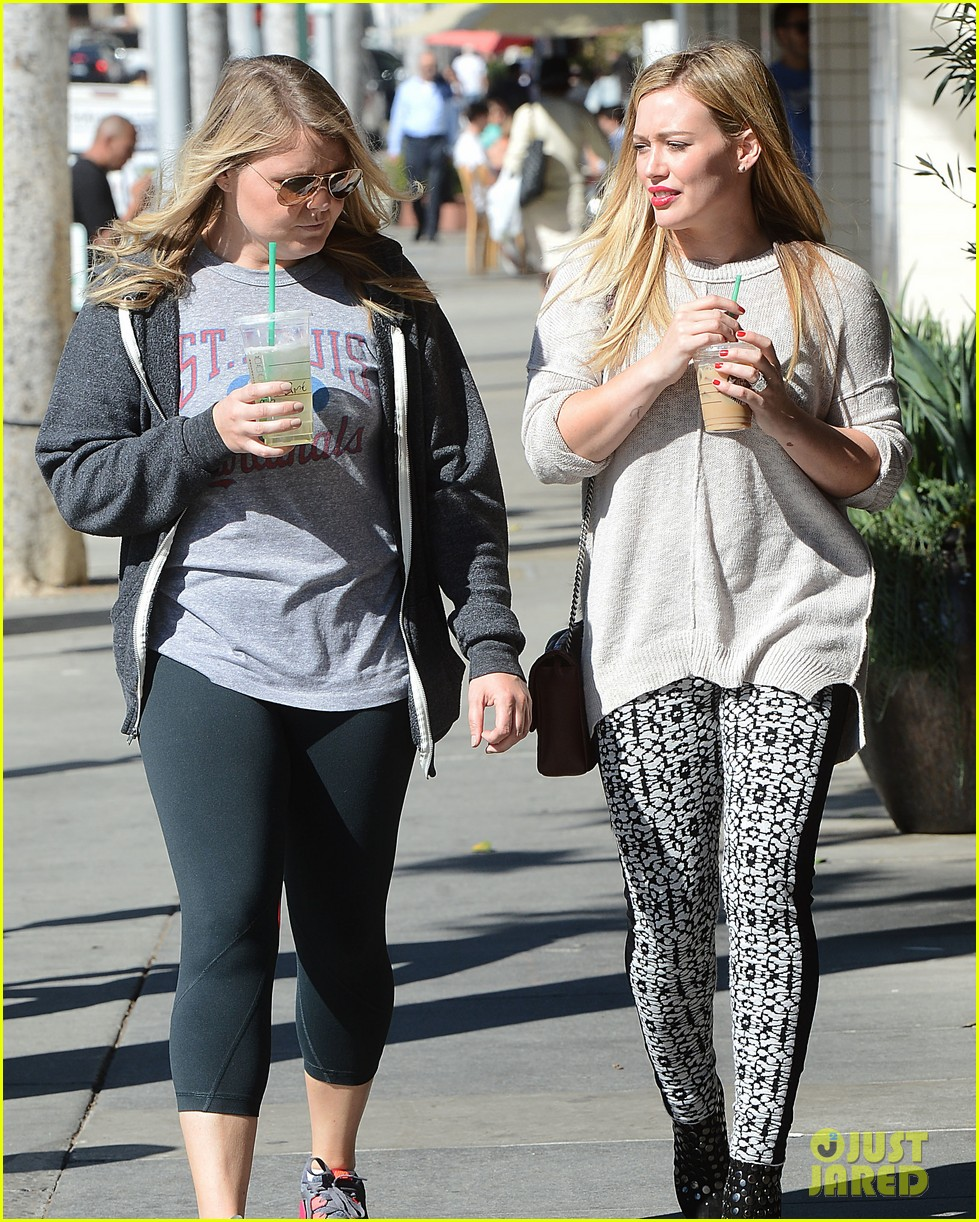hilary duff grabs coffee with gal pal in beverly hills 102968418