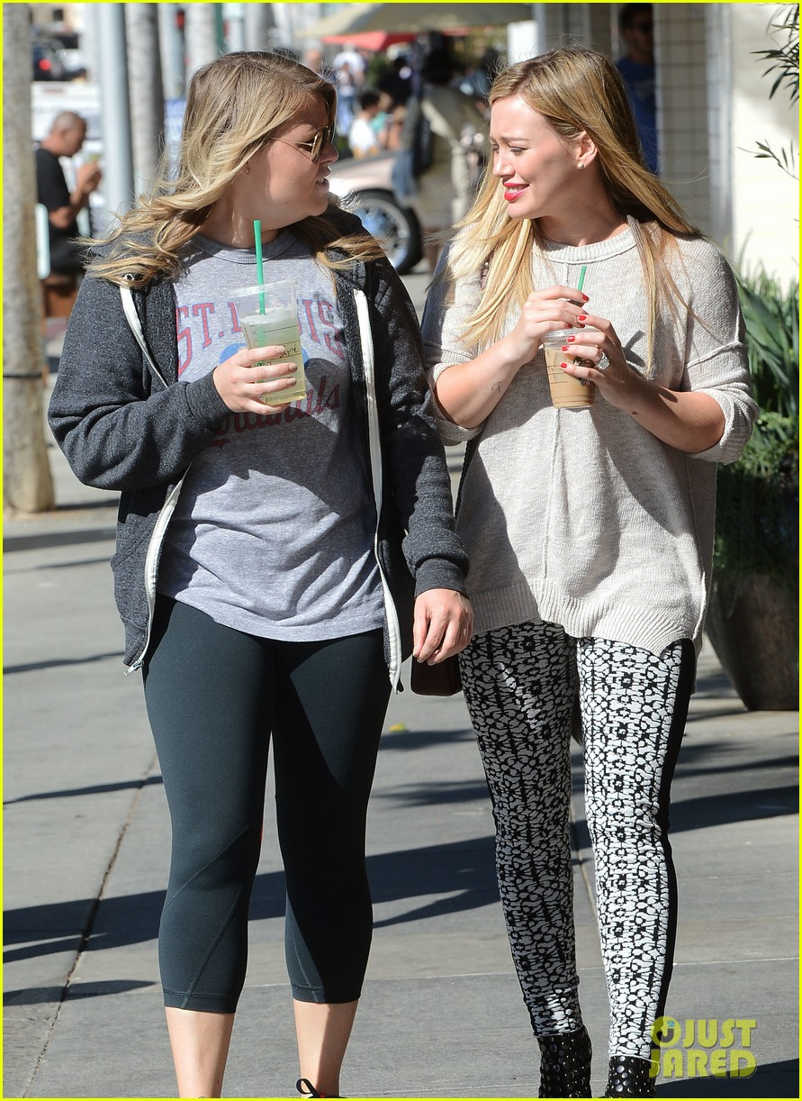 hilary duff grabs coffee with gal pal in beverly hills 122968420