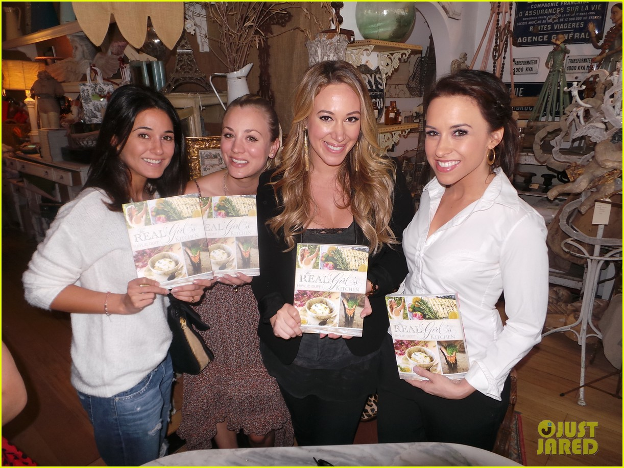 hilary duff supports sister haylie at real girls kitchen signing 062981462