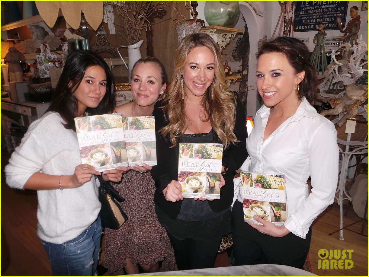 hilary duff supports sister haylie at real girls kitchen signing 072981463