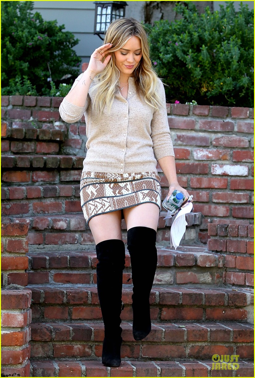 hilary duff mike comrie slides with luca 05