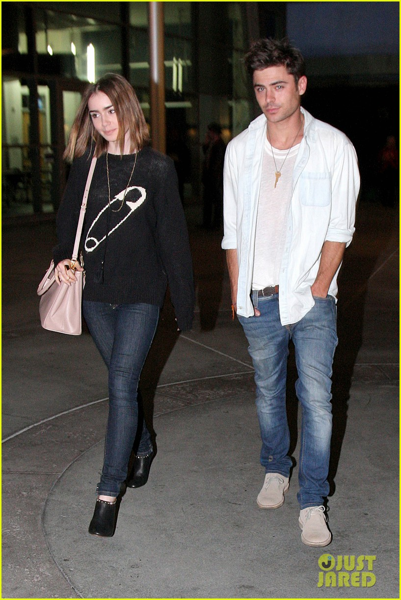 zac efron lily collins movie night out 01